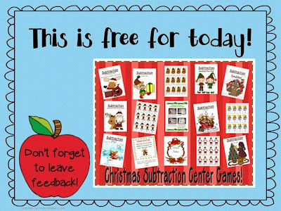 http://www.teacherspayteachers.com/Product/Eight-Christmas-Subtraction-Center-Games-172302