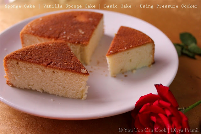 Eggless Vanilla Cake Recipes In Pressure Cooker: Vanilla Sponge Cake