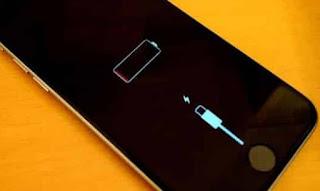 batteria su iPhone