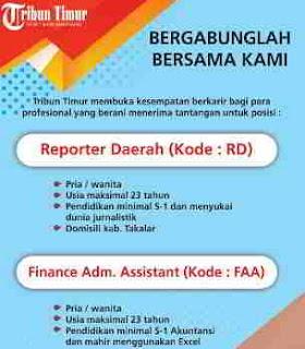 Lowongan Kerja Tribun Timur Berita Online Makassar