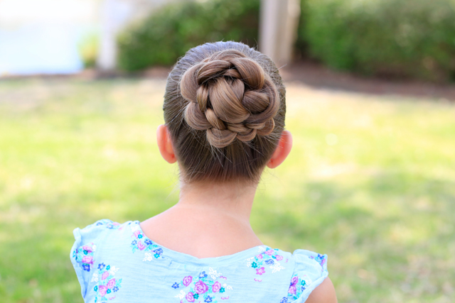 Braided Floral Updo