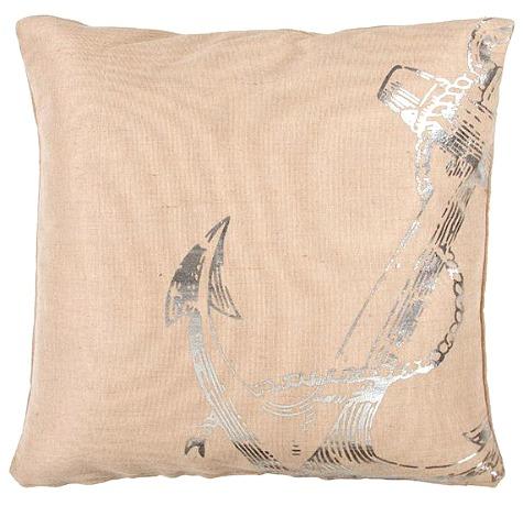 Silver Anchor Pillow