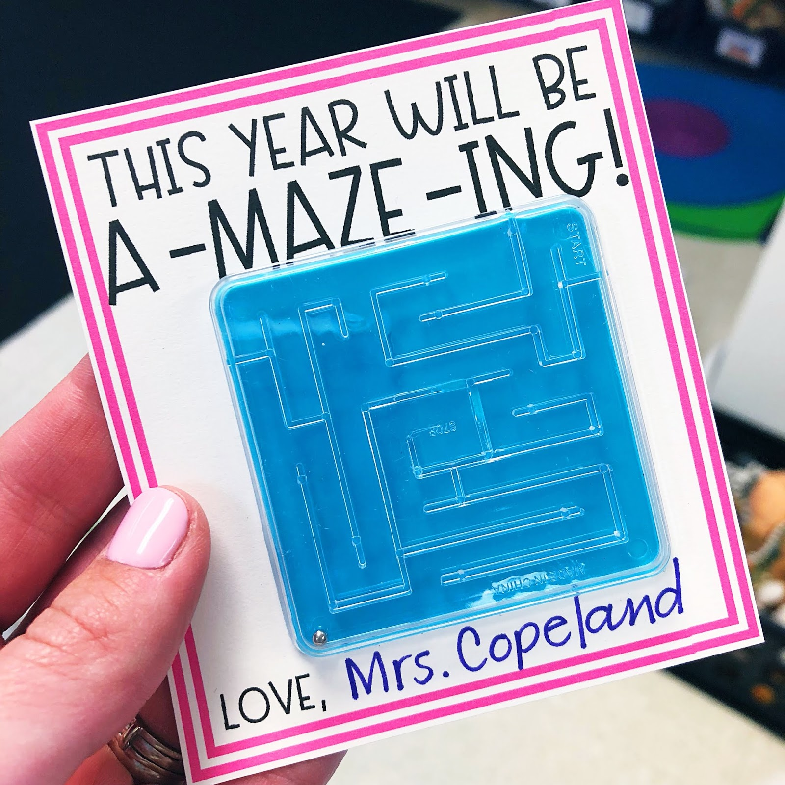 Back to school student gift idea and gift tag. This year will be A-MAZE-ING back to school gift tag - a FREEBIE from True Life I'm a Teacher!