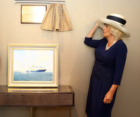 The Duchess of Cornwall attended the naming and baptism ceremony of the Saga Group's new cruise ship in Dover
