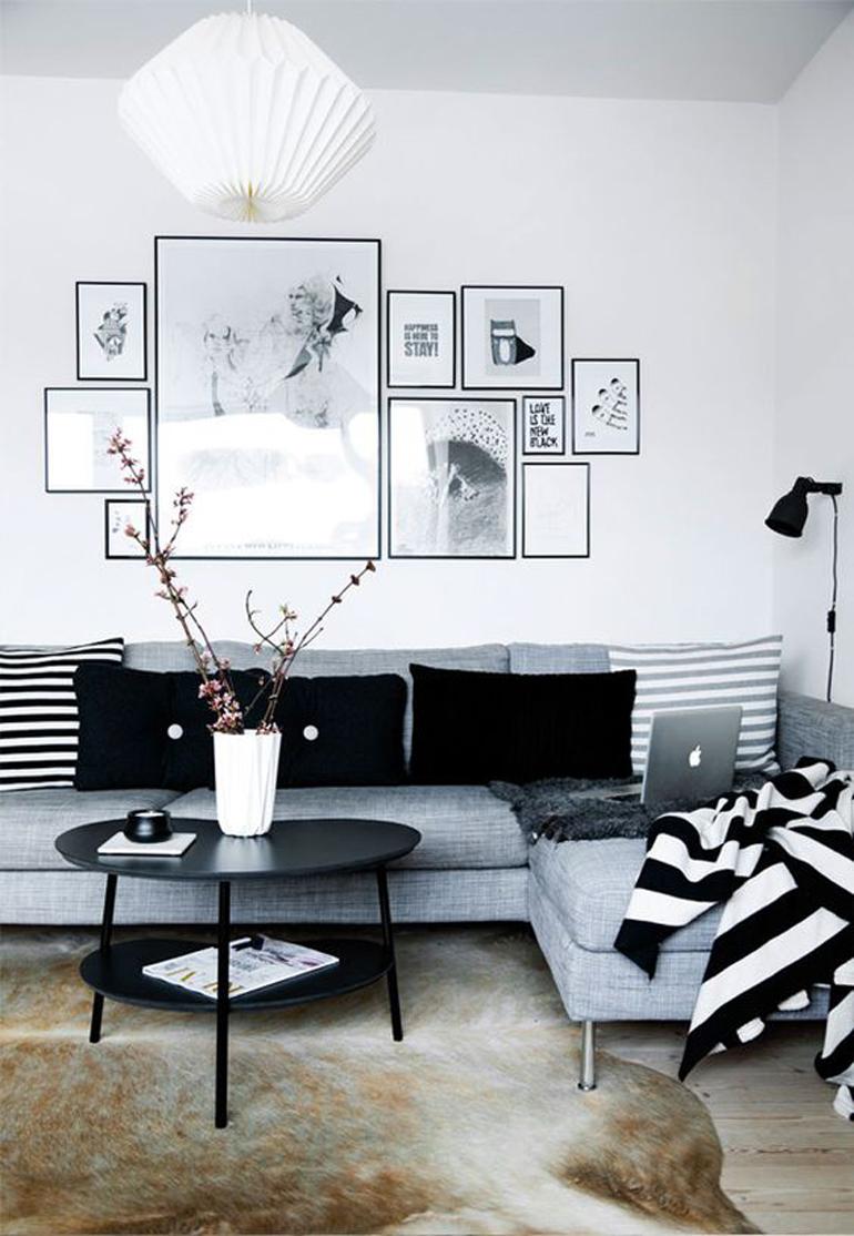 composicion cuadros blanco y negro