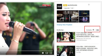 Cara mematikan autoplay di youtube