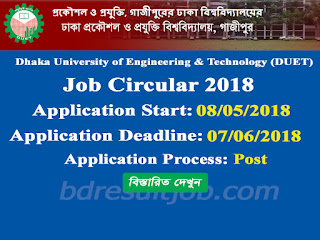 DUET Professor Recruitment Circular 2018