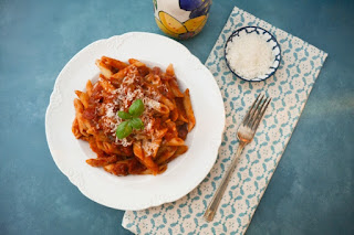 Best Tomato and Basil Pasta Sauce. A simple but fresh sauce. Full of flavour but low in calories. It's a real family favourite and suitable for a vegetarian, vegan or dairy free diet.