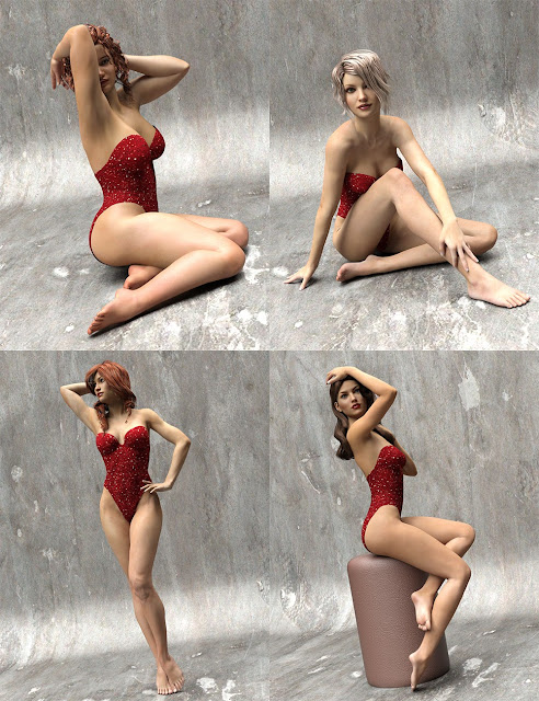 Pinup Poses for Genesis 3 Female
