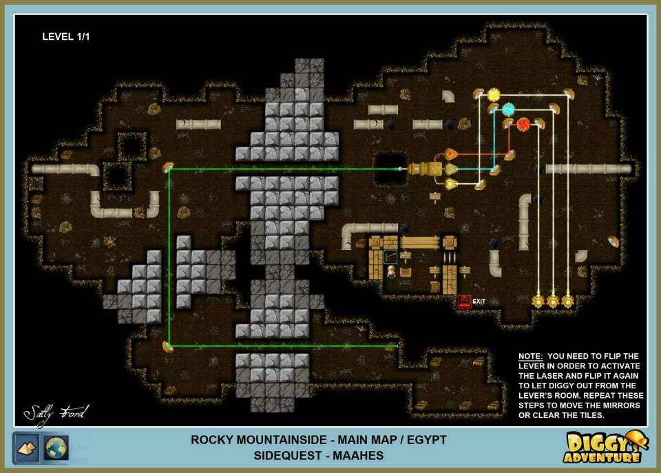 Diggy's Adventure Walkthrough: Egypt Main / Rocky Mountainside