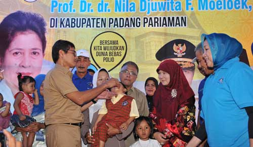 tersebar isu vaksin polio haram, gubernur sumbar angkat bicara