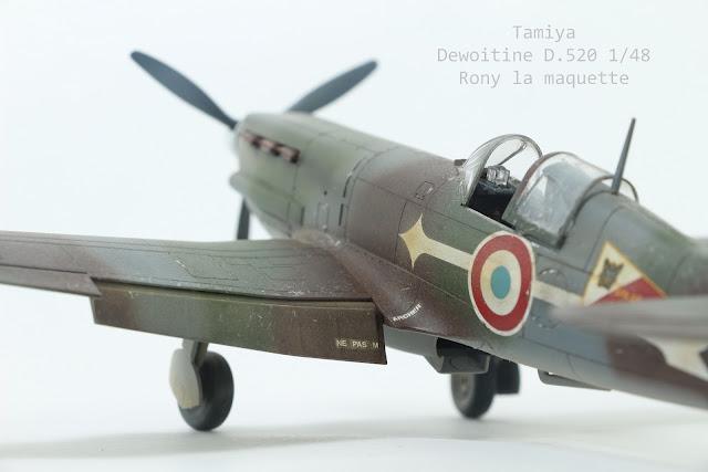 Maquette du Dewoitine D.520 Tamiya 1/48.