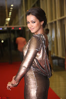 Actress Catherine Tresa in Golden Skin Tight Backless Gown at Gautam Nanda music launchi ~ Exclusive Celebrities Galleries 060.JPG
