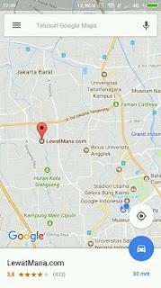 cara memindah lokasi koordinat google maps