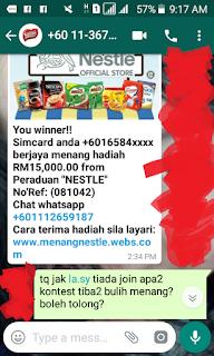 MENANG RM15K DARI NESTLE!!!, nestle fake, laman web nestle pake, peraduan nestle fake,menangnestle fake,penipu menangnestle,jangan tertipu scammer nestle, nestle malaysia, laman web rasmi nestle