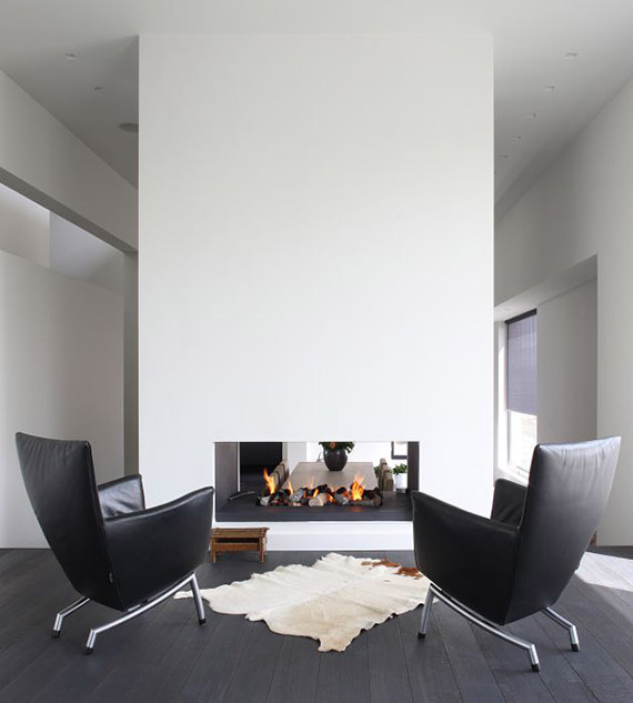 DECOR TREND: Minimalist fireplace | Oomen Architects