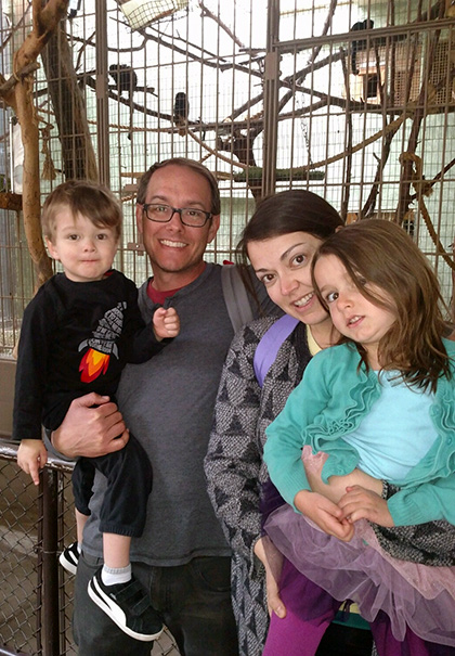 Our Dubbert Family in the monkey house