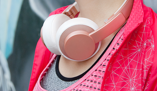 Urbanista, wireless headphones, rose gold
