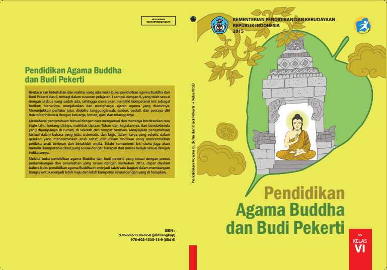 Download Gratis Buku Siswa Pendidikan Agama Budha Dan Budi Pekerti Kelas 6 SD Kurikulum 2013 Format PDF