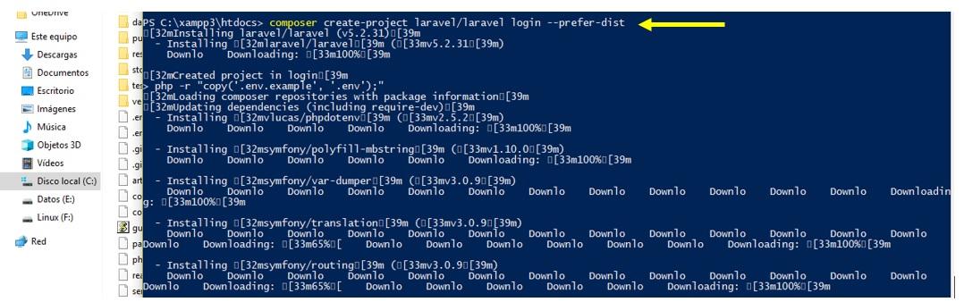 Crear un login en Laravel Framework
