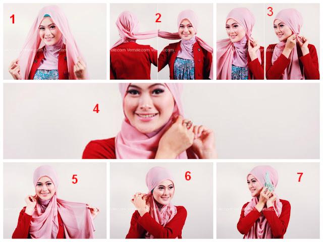 Cara Memakai Hijab Segi Empat Untuk Pesta Terbaru