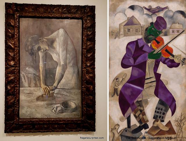 """Museu Guggenheim, Nova York - Picasso: """"Mulher Passando Roupa"""", e Chagall, """"O Violinista Verde"""""""