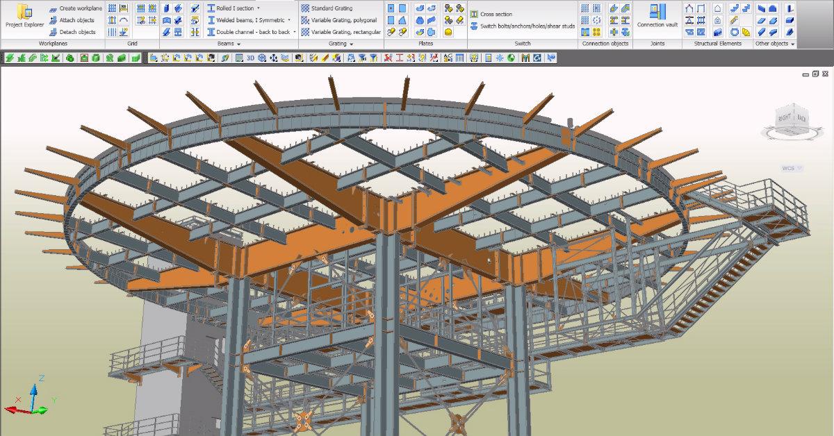 Diseño y fabricación de estructuras metálicas con Advance Steel