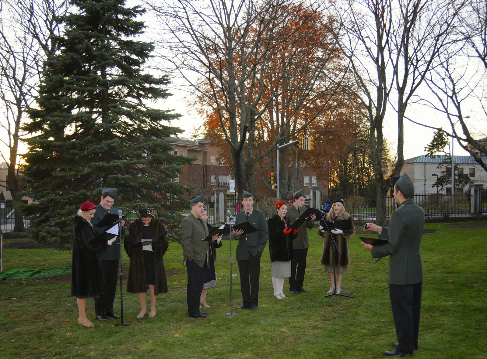 Holiday stroll carolers