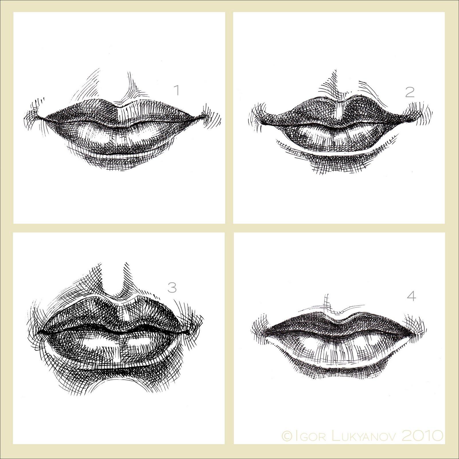 Female lips drawing woman mouth
