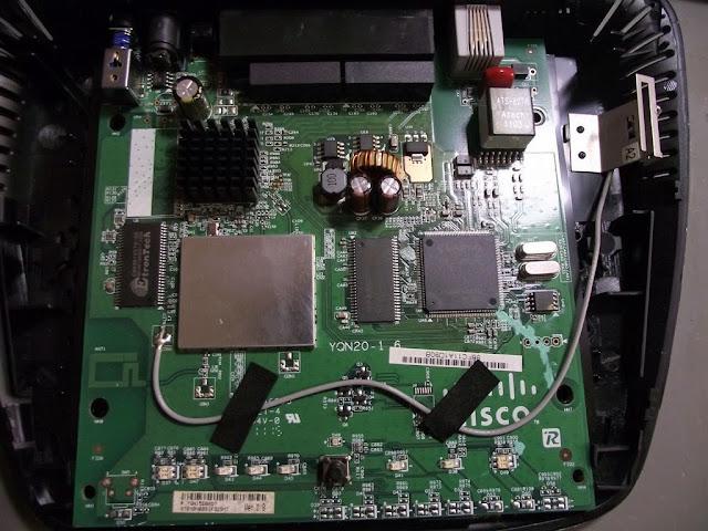 Linksys WAG120N PCB