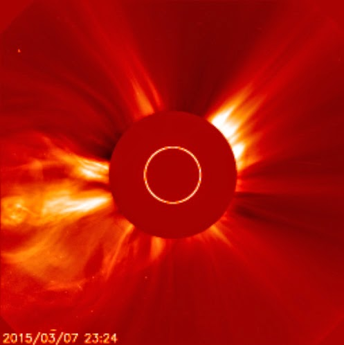 explosão solar dia 7 de março de 2015