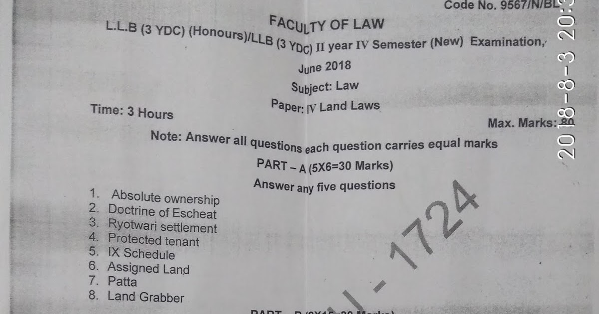 A Blog for LLB 3YDC GENERAL / HONORS: LAND LAWS PREVIOUS