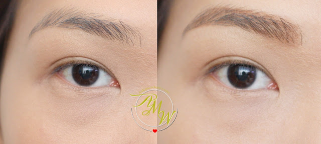 a before and after photo of Revlon Colorstay Eyebrow Liner Review (Light Brown)