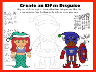 worksheet for early finishers in art to draw elves