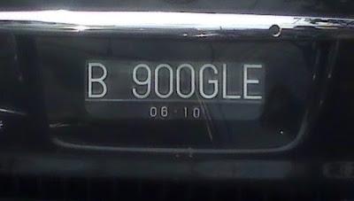 Ilustrasi plat nomor kendaraan pribadi