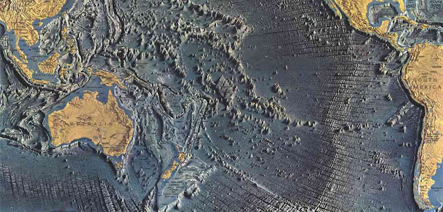 Topografia de los fondos oceanicos y geologia