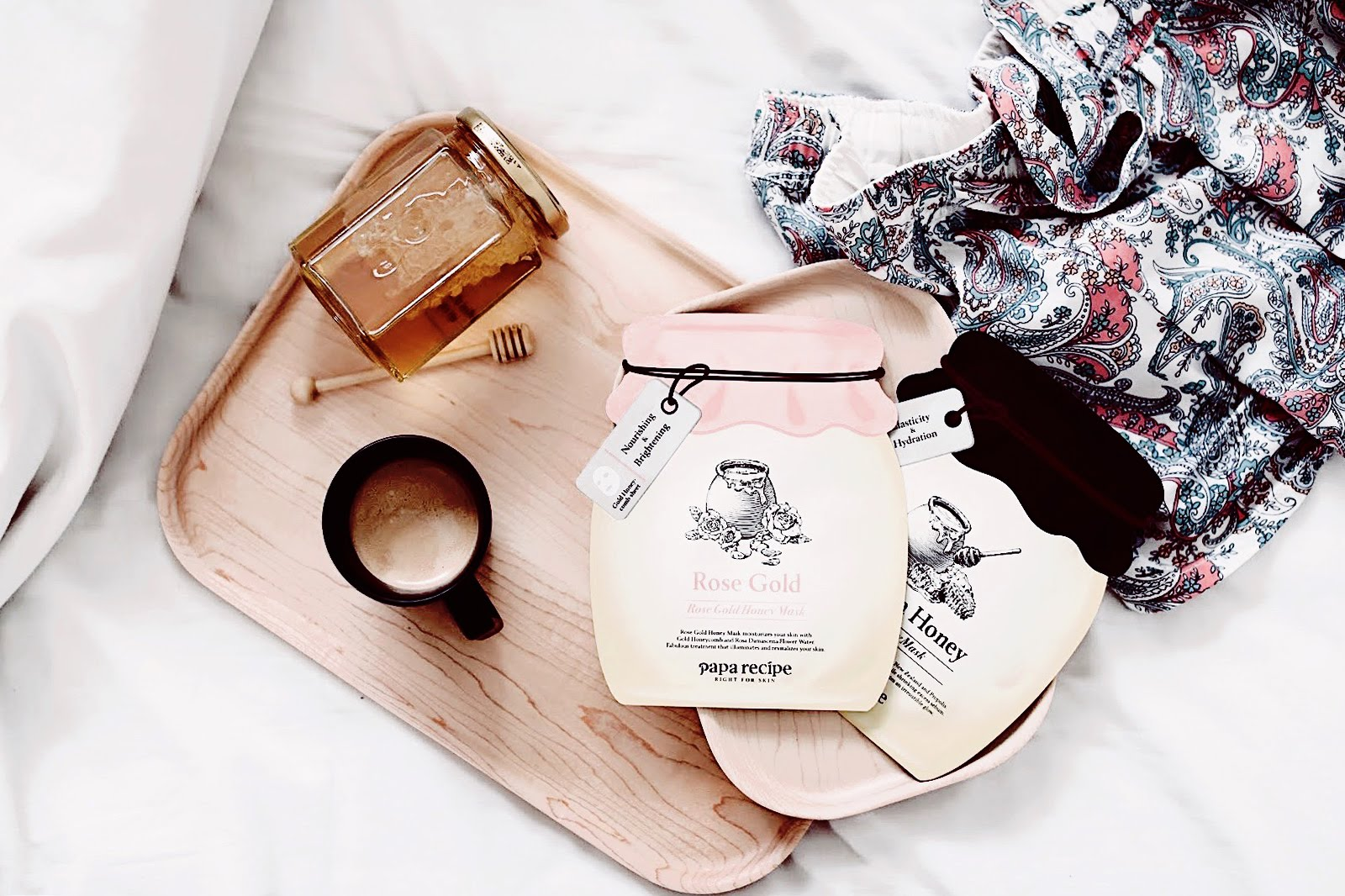papa recipe masque visage miel de manuka rose gold black honey mask avis test ingredients formule