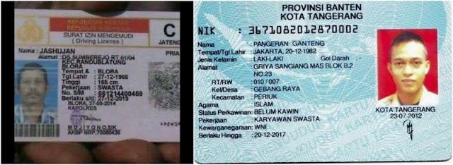 37 Nama KTP Dan SIM Unik