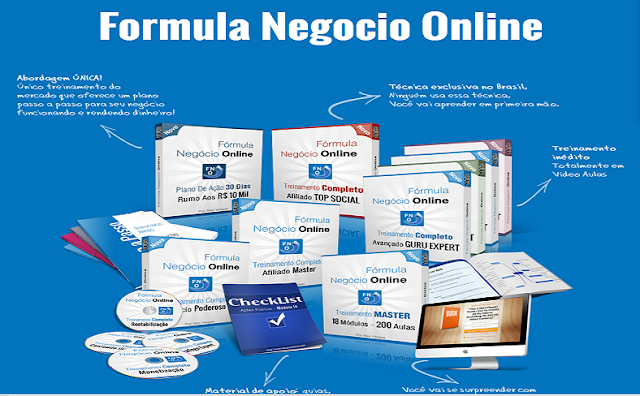 MODULOS DO FORMULA NEGOCIO ONLINE
