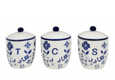 Canister blue set onion