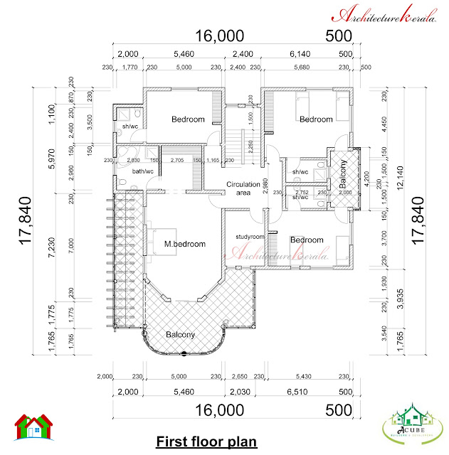 Kerala Home Design And Floor Plans: DOUBLE STORIED KERALA HOUSE PLAN AND ELEVATION