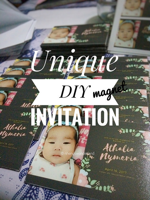 Unique DIY Magnet Invitation