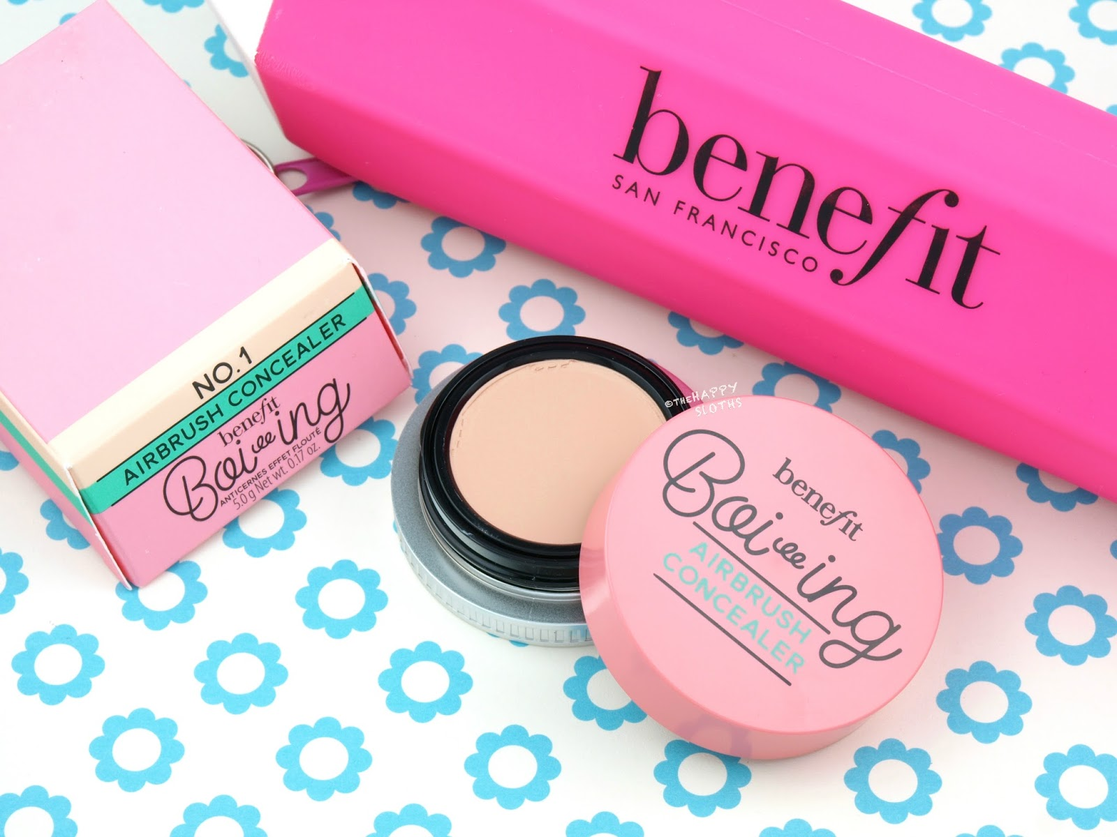 Benefit Cosmetics Boi-ing Airbrush Concealer: Review and Swatches