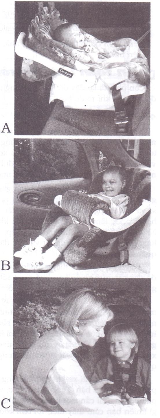 Hãy chọn ghế an toàn phù hợp cho con bạn