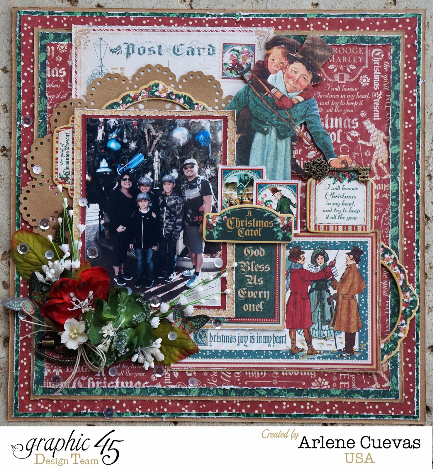 1000 Images About A Christmas Carol On Pinterest: Butterfly Kisses & Paper Pretties: 12x12 Scrapbook Layout