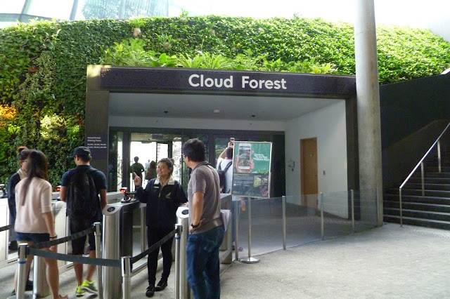 Wejście do Cloud Forest w Singapurze