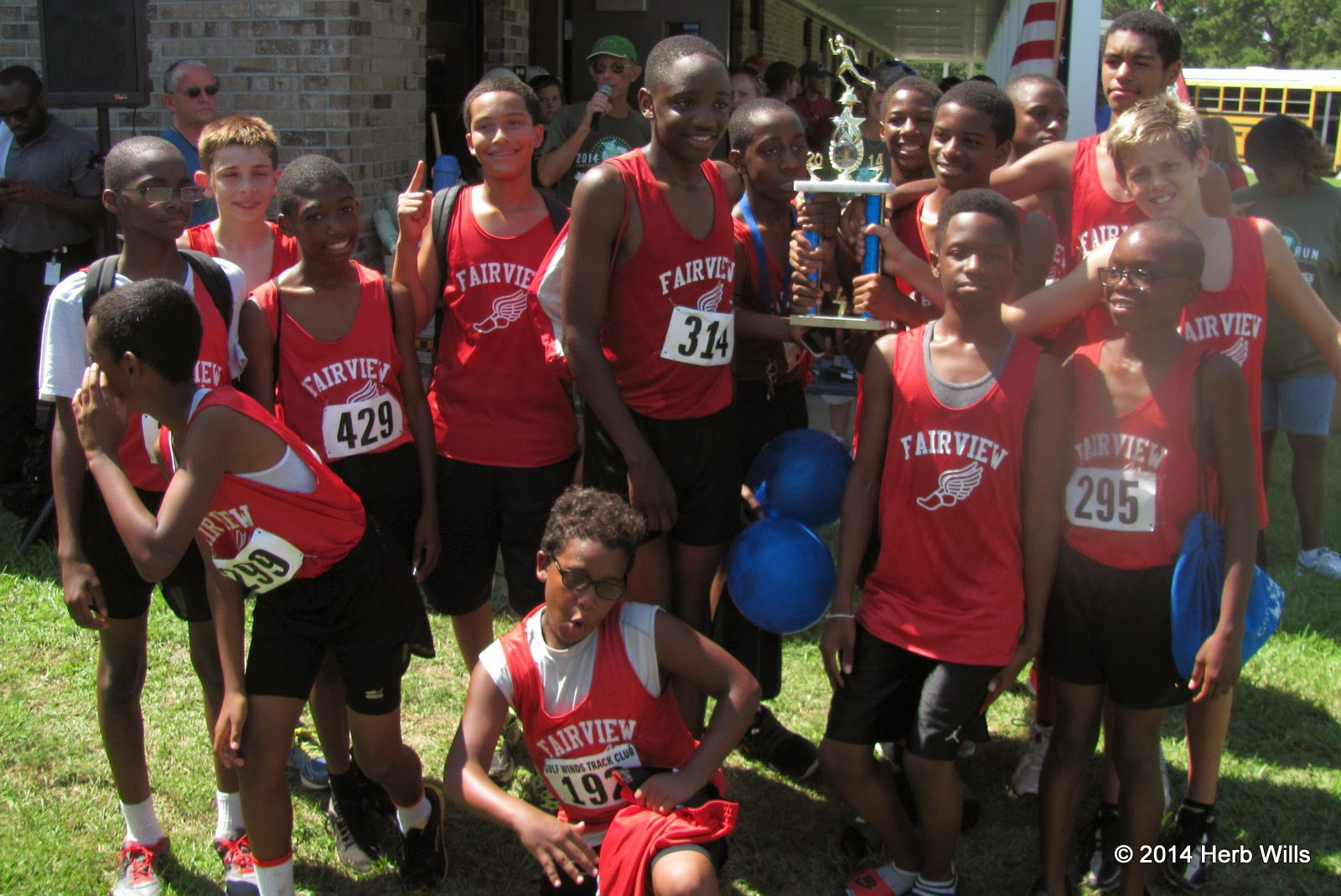 Fairview Middle School boys' cross-country team