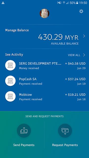 Akaun Paypal Bulan Jun 2017 Bukti Income Part Time Sebagai Publisher