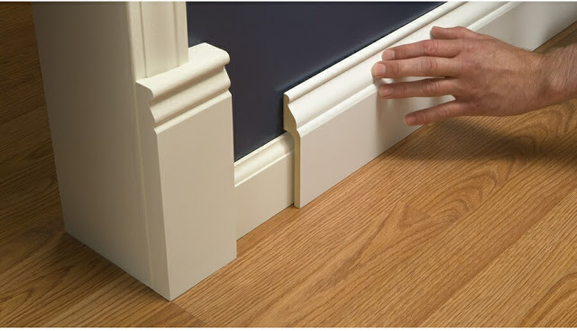 Rapidfit 5 25 In X 8 Ft Interior Pine Mdf Baseboard 21 60