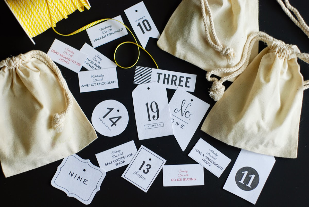 Rambling Renovators | advent calendar draw string bags